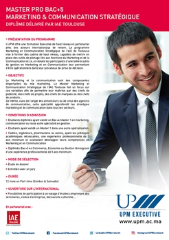 Master Marketing & Communication Stratégique