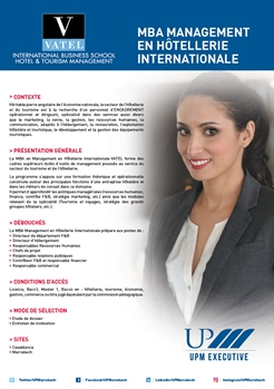 MBA VATEL - Management en Hôtellerie Internationale