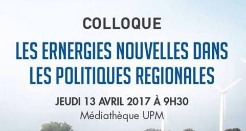 Enérgies Renouvelables - UPM Colloque