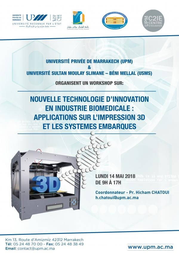 NOUVELLE TECHNOLOGIE D'INNOVATION EN INDUSTRIE BIOMEDICALE - APPLICATIONS SUR L'IMPRESSION 3D ET LES SYSTEMES EMBARQUES